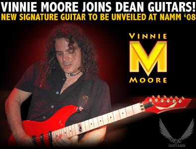 VINNIE MOORE - DEAN GUITARS